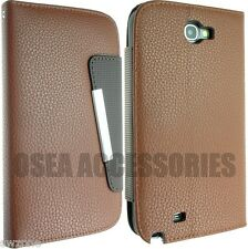 FOR SAMSUNG GALAXY NOTE II 2 N7100 LEATHER CASE COVER SKIN FLIP POUCH BACK SOCKS