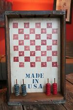 Vintage Folk Art Checkers Game From Old Coca Cola Crate