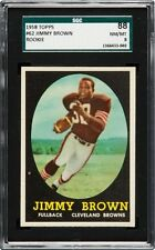 1958 Topps #62 JIM BROWN Rookie RC SGC 88
