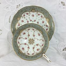 Coalport, England, Bone China Cup & Saucer, Footed, Handpainted