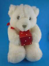"Hallmark Bearer of Gifts Bear with Jewelry  Ring Box 7"" Sitting Heartline MWT"