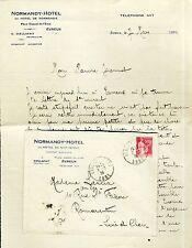 Dépt 27 - Evreux - Lettre + Enveloppe à Entête du Normandy-Hotel de 1934