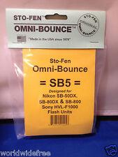 Sto-Fen Omni-Bounce SB5 Diffuser f/Nikon SB-50DX,SB-80DX,SB-800 Flashes Stofen