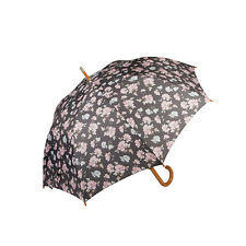 Sass and Belle French Rose Design Umbrella - Pink and Brown Nylon Umbrella