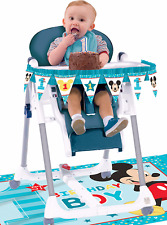 Disney Baby Mickey First Birthday Chair Decorating Kit ~ Boy 1st Party Supplies