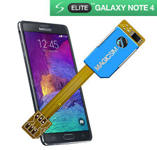 Adaptateur double carte sim pour samsung galaxy note 4-micro sim no cut 3G/umts-uk