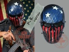 Full Face Airsoft Paintball Protection Skull Mesh Mask Outdoor Tactical Gear New
