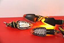 4x LED Motorrad Universal Miniblinker E-Zeichen Licht Schwarz Lampe Hinten Vorne