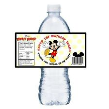 20 #2 MICKEY MOUSE PERSONALIZED BIRTHDAY PARTY FAVORS ~ WATER BOTTLE LABELS
