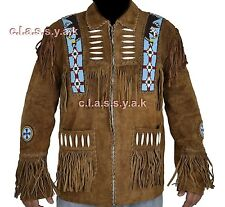 Western Leather Jacket for Men in Brown - Suede Leather + special online offer