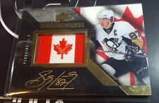 SIDNEY CROSBY 2015-16 (15/16) UD BLACK PRIDE OF A NATION PATCH AUTO #03/10 *SSP*