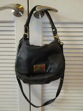 WOMENS MARC BY MARC JACOBS BLACK LEATHER SATCHEL BAG W/GOLD HARDWARE