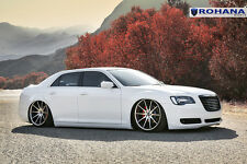 22x9 22x10.5 +18 Rohana RC10 5x115 Machine Wheels Fit Chrysler 300S 2012 2013 14