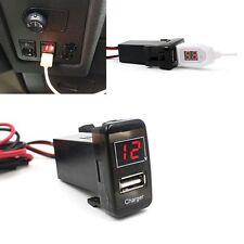 Auto 5V 2.1A porta USB Cruscotto Voltmetro Telefono Caricabatterie Per TOYOTA