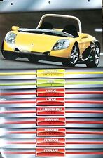 Lot de 9 Fiches Technique de classeur Atlas: RENAULT SPORT SPIDER/ BMW Z3/ Diabl