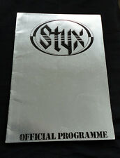 Styx 1981 Tour Programme Paradise Theater Theatre Printed in ENGLAND