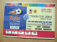 Ticket- LAOS v CAMBODIA & VIETNAM v INDONESIA, Tiger Cup 2004 Group Stage