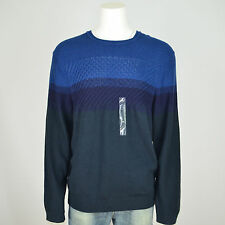 NWT CALVIN KLEIN JEANS Cable Knitted Crew Neck Sweater Sz XXL Estate Blue, Navy