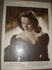 Photo article actress Lizbeth Webb 1949 ref K