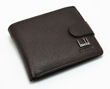 IMPERIAL HORSE MEN'S BIFOLD PRESS STUD COIN WALLET BLACK COWHIDE LEATHER NO BOX