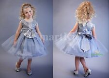 Grey Sequined Scoop Formal Dress Flower Girl Wedding Occasion Party Size 3 FG314