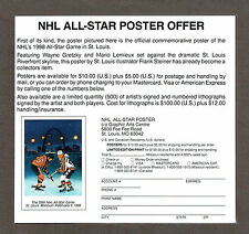 "1988 NHL All-Star Commemorative Poster, Ad Slick (6 1/2""x6""), Gretzky & Lemieux"
