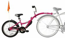 WeeRide Folding TagAlong Bike Trailer like Piccolo. Deliver in 24hrs. Pink.