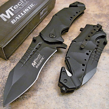 MTECH RESCUE Modified Tanto Heavy Duty Action Assist Open Tactical Pocket Knife