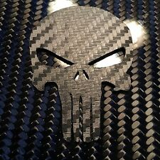 TIC TACTICAL CARBON FIBER VINYL PUNISHER MORALE PATCH WITH VELCRO® BRAND USMC SF