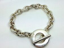 A Superb Heavy Asprey London Solid Silver T-Bar Bracelet