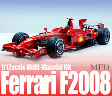 Model Factory Hiro 1/12 Multimedia Kit Ferrari F2008 Ver.A: European/Japanese GP