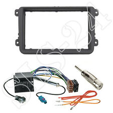 VW Caddy Passat B7 CC Jetta Doppel 2-DIN Radioblende Rahmen Quadlock Adapter SET