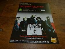 MY CHEMICAL ROMANCE - Publicité de magazine / Advert THE BLACK PARADE  !!!!!