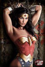 """Art Design Girl Wonder Women Silk Cloth Poster 36"""" x 24"""" Decor 03"""