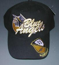 US NAVY BLUE ANGELS F-18 HORNET FLIGHT DEMONSTRATION TEAM Hat With Patch Image