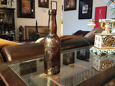 Antique Pre-1900 Glass Beer Bottle w/ Awesome Patina