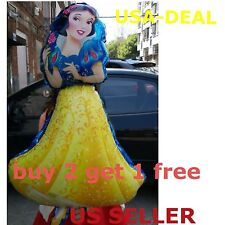 ��JUMBO 3 FEET SNOW WHITE BALLOON  BIRTHDAY FOIL PARTY DISNEY PRINCESS DECOR��