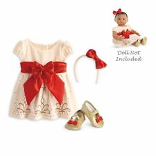 American Girl Bitty Baby Cream & Crimson Outfit Beautiful !!!!