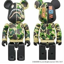 Medicom Toy Be@rbrick Bearbrick BAPE CAMO SHARK Green Alloyed200% Figure WGM ape