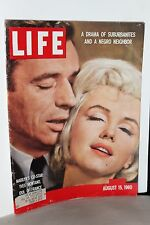 """Life Magazine ~ Marilyn Monroe & Ives Montand """"Idol of France"""" 1960 ~ WH"""