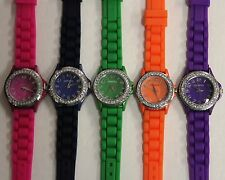 Hot Sale Woman Fashion Jelly / Silicone Band, 32 mm Dial-2nd Lot 5-Watches