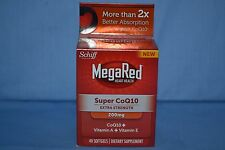 Schiff MegaRed Super COQ10 Extra Strength 200mg 40 Softgels Exp.  05/2017
