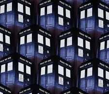 Fat Quarter Doctor Who Tardis 100% Cotton Quilting Fabric Springs Fabric 51563
