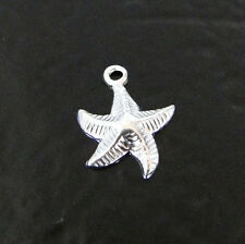 ONE CHARM Small Sterling Silver Starfish, Sand Dollar OR Shell, Made in the USA
