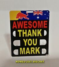 "1:18 Pitboards Formula 1 Mark Webber Red Bull Brasil 2013 ""AWESOME""to minichamps"
