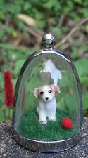Jack Russell sit! doggy diorama necklace JRT pup puppy funky cute