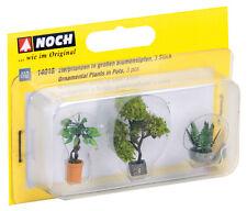 NOCH 14018 H0 1:87 Découpé au Laser Plantes décoratives in Pots de fleurs