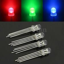 50 Pcs LED RGB Common Cathode 4-Pin F5 5MM Super Bright Bulb Lamp Assortment