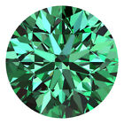 2.3 Mm Round Cut Fancy Green Color Loose Natural VVS Diamonds Wholesale Lot