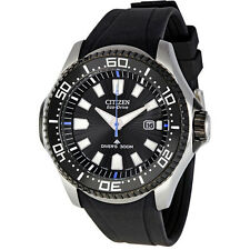 Citizen Black Rubber Strap Mens Watch BN0085-01E